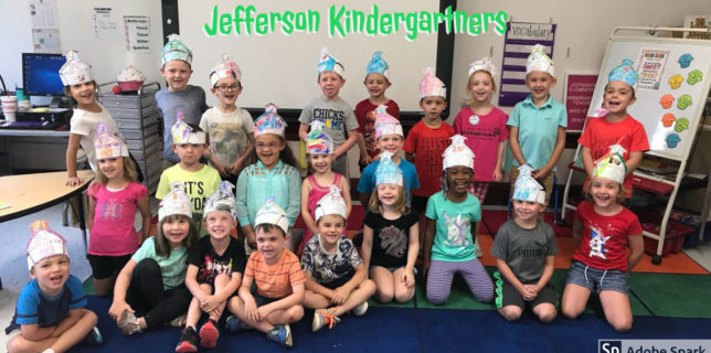 Photo of Jefferson Kindergarten Class Aug 2018