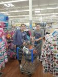 Students with shopping cart