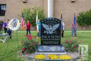 CHS Veterans Memorial at Dedication 9-11-18