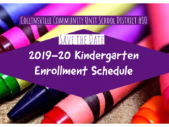 Dates Announced for 2019-20 Kindergarten Enrollment