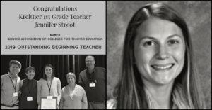 Jennifer Stroot Outstanding Beginning Teacher April 2019