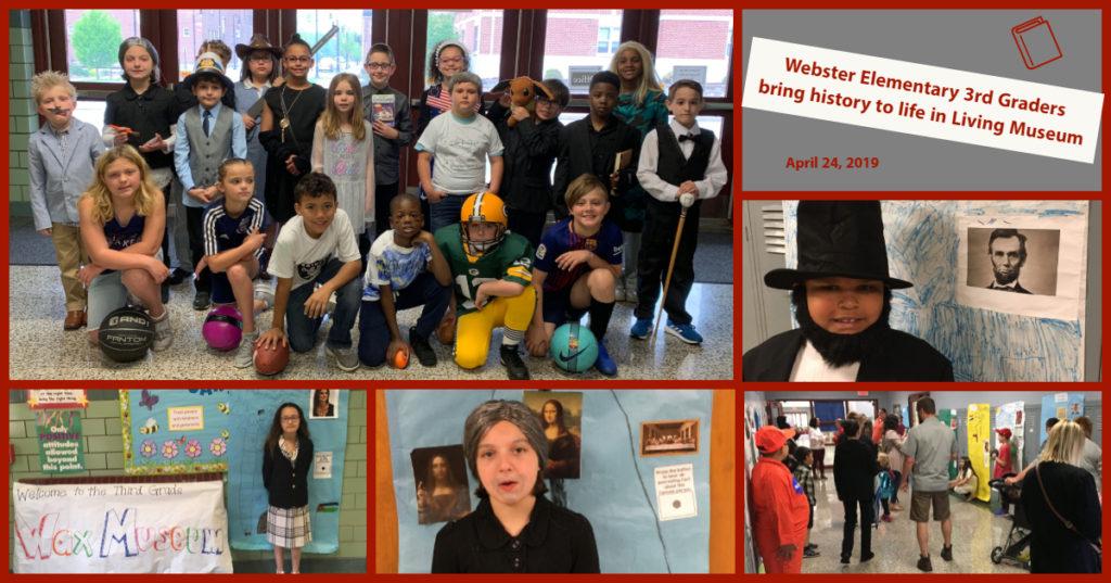 Webster 3rd Grade Living Wax Museum April 2019