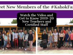 Video Introduces New 2019-20 Teachers & Certified Staff
