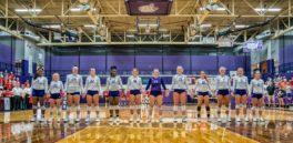 Girls Volleyball in Fletcher Gym 2019