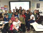 Renfro Teacher Linda Locandro with her 3rd grade class