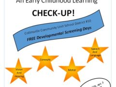 Flier for Early Childhood Screenings March/April 2018