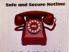 Safe and Secure Hotline logo 618-979-6406