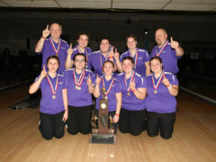Team Photo of 2009-2010 State Champion Kahok Girls Bowlers