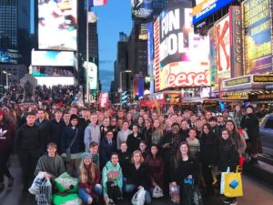 Collinsville Band in Times Square