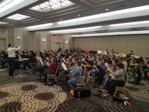 CHS Band Practicing in NYC