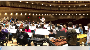 CHS Band rehearsal in Carnegie Hall March 2018