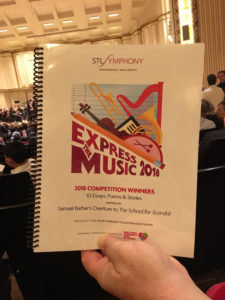 Cover of Express the Music program