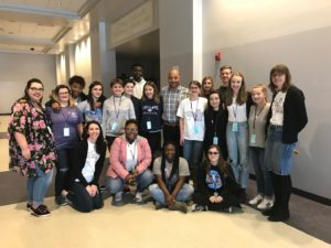 Write on Fest students with Author David Wright