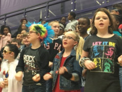 Students performing in 2018 4th grade musical