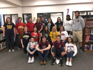 CHS students on academic signing day 2018