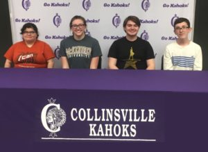 Members of Collinsville High School's Illinois Personal Finance Challenge Team