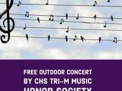 Ad for Tri-M Music Society community concert