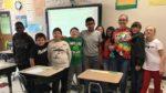 Sara Harrison with students