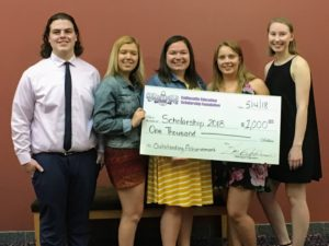Recipients of 2018 Collinsville Education Scholarship Foundation $1,000 awards