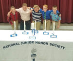 Students by NJHS Ceremony Table