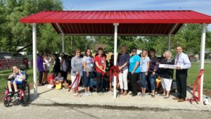 Kreitner Students and Staff in Outdoor Pavilion