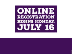 Online Registration Begins Monday July 16, 2018