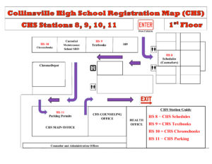 Map for CHS ONLY Check-in Stations 8-11