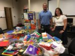 Caseyville Principal receiving school supplies