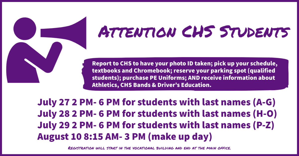 CHS 2021-22 Back to School Dates