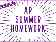 CHS 2021 AP Summer Homework