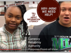 """HAY-MAN! I NEED HELP"" Introduces Information Literacy"