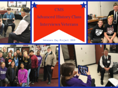 CMS Advanced History Students Interview Veterans