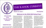 Front Page of Kahok Current Newsletter