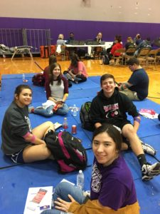 Students at CHS Blood Drive