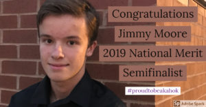 Jimmy Moore National Merit Semifinalist 2018