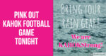 Pink Out Game Rain Graphic