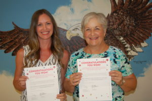 Sarah Owen and Dorothy Joyce with certificates