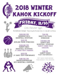 Kahok Winter Kickoff Flyer