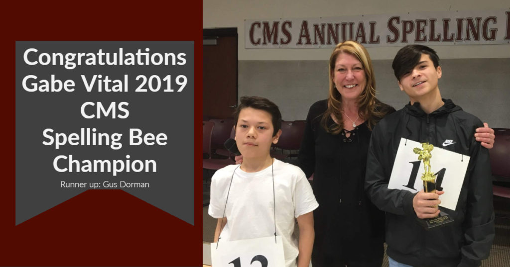 2019 CMS Spelling Bee Winners