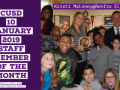 Renfro's Mrs. Maloney is January 2019 Staff Member of the Month
