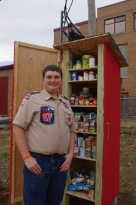 Hunter Snow with completed Blessing Box