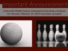 CMS Bowling & Volleyball on 2/19/19 Canceled Due to Weather