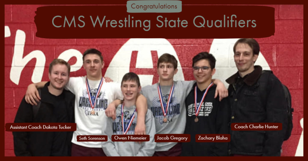 CMS State Qualifying Wrestlers March 2019