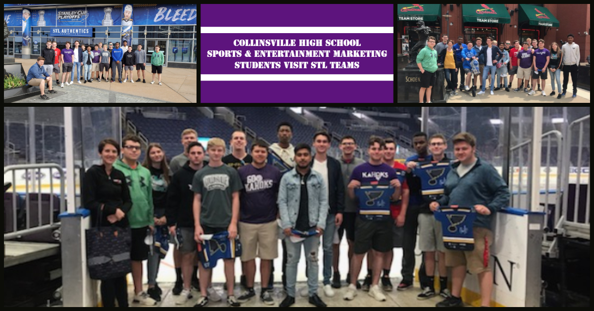 CHS Sports Marketing Class STL Field Trip April 2019