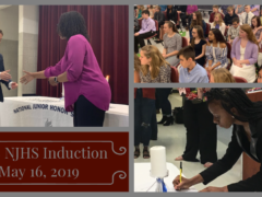 Collage of NJHS 2019 Induction Photos