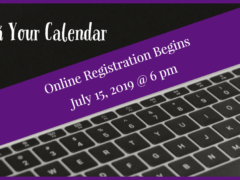 2019-20 Online Registration Begins July 15