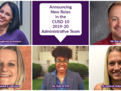 CUSD 10 Introduces New Administrators for 2019-20
