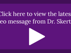 October 11, 2019 Video Message from Dr. Skertich