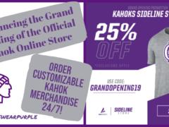 Kahok Athletics Announces New Online Store
