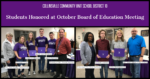 Students Honored Oct 21 2019